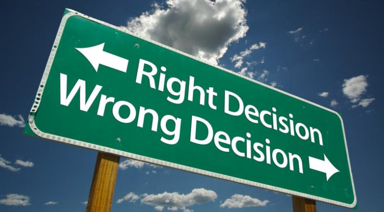 Right decision wrong decision
