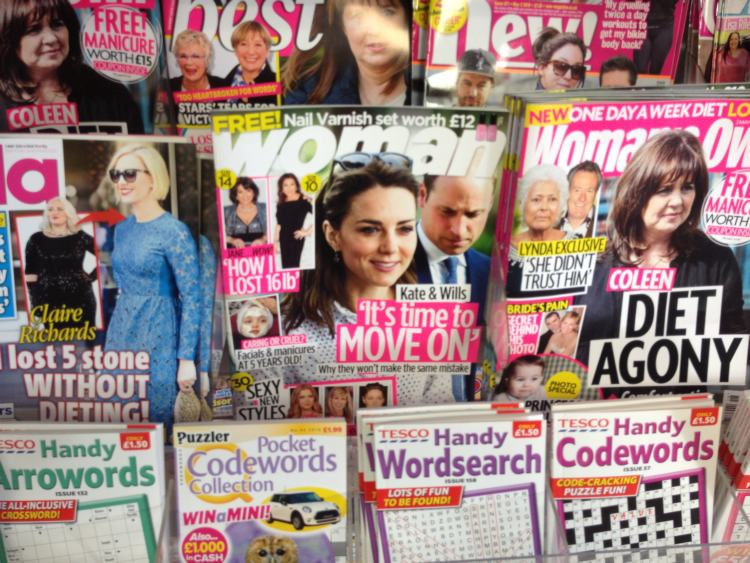 Tabloids promoting weightloss