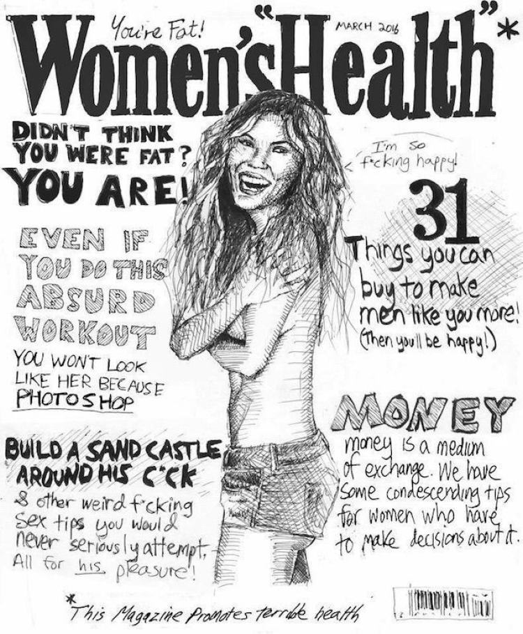 Women's health caricature
